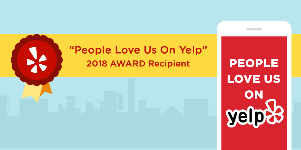 People Love Us on Yelp - 2018 Award Recipient