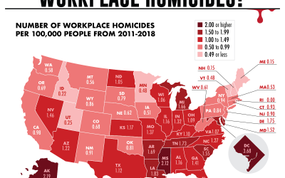 Which U.S. States Have the Most Workplace Homicides?